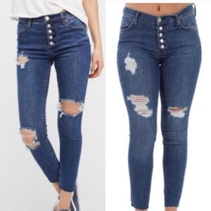 Free People Ripped Jeans NWT sz 29